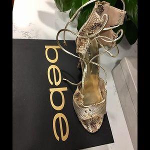 BEBE Snake print sandal